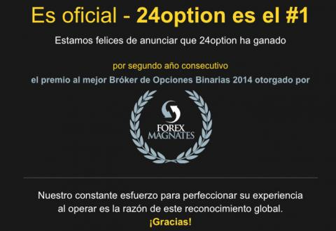 24 Option mejor bróker