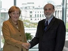 Merkel y Bernanke, citas clave de la semana