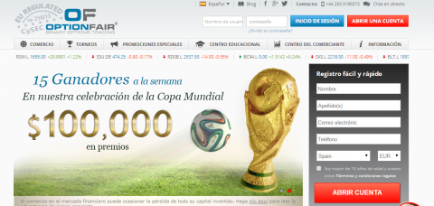 Option Fair y el mundial