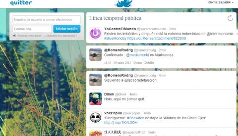 Quitter, Twitter y binarias