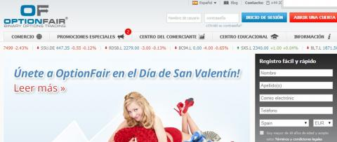 San Valentín y Option Fair
