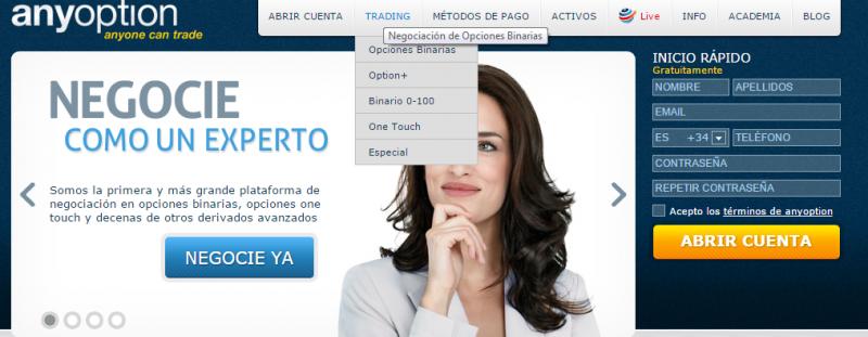 Cuenta virtual de opciones binarias