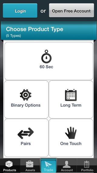 App opciones binarias